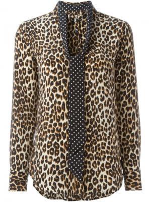 Рубашка с леопардовым принтом Equipment. Цвет: телесный