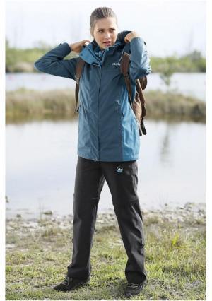 Куртка 3 в 1 POLARINO. Цвет: зелено-синий, сливовый