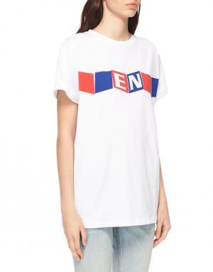 Хлопковая футболка Etre Cecile. Цвет: белый