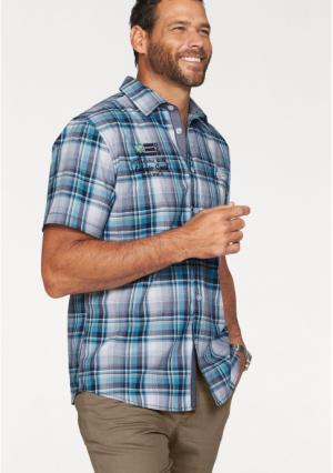 Рубашка MANS WORLD MAN'S. Цвет: синий/белый в полоску