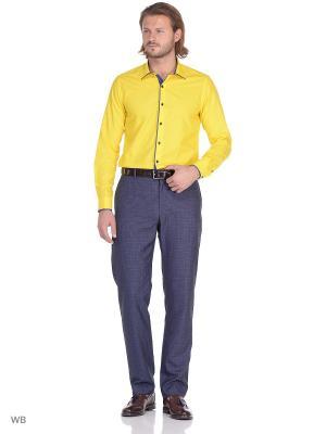 Рубашка Fitmens. Цвет: желтый