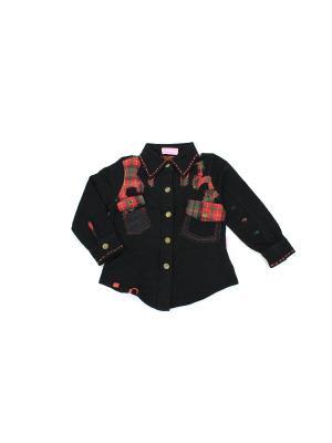 Рубашка Evita Baby. Цвет: черный, красный
