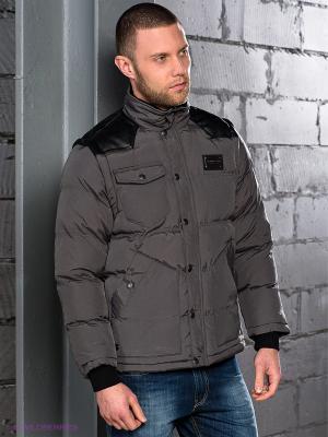 Куртка Wrung Division. Цвет: серый, черный