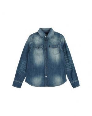 Джинсовая рубашка DONDUP DKING. Цвет: синий