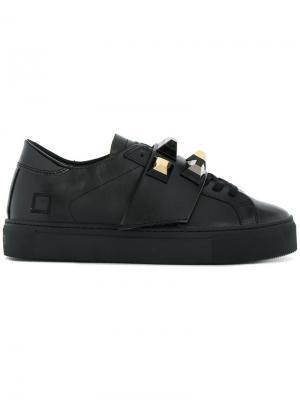 Кроссовки с заклепками D.A.T.E.. Цвет: чёрный