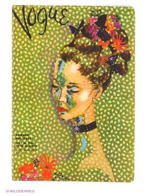 Обложка для паспорта Мадам Mitya Veselkov. Цвет: зеленый, красный