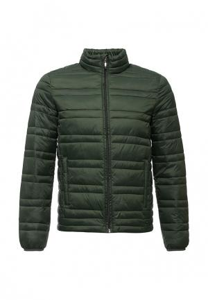 Куртка утепленная Sisley. Цвет: зеленый