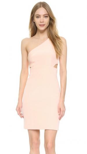 Платье с открытым плечом KAUFMANFRANCO. Цвет: сладкая вата