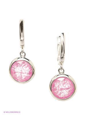 Серьги BALEX. Цвет: серебристый, розовый