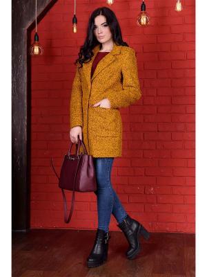 Пальто Вейси 1053 MODUS. Цвет: горчичный