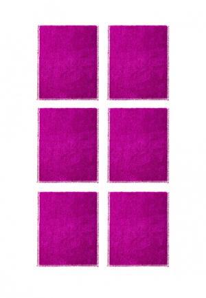 Комплект салфеток 6 шт. La Pastel. Цвет: фуксия