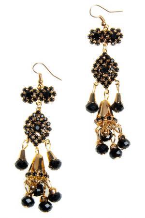 Earrings BELLA ROSA. Цвет: black, gold