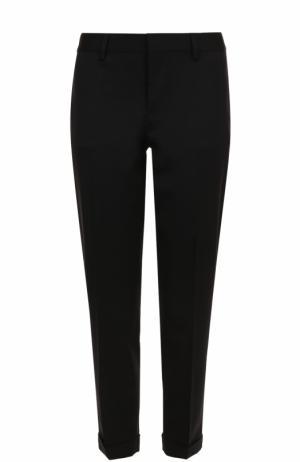 Укороченные зауженные брюки из шерсти Dsquared2. Цвет: черный