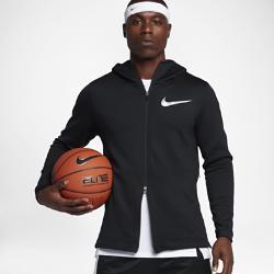 Мужская баскетбольная худи с молнией во всю длину  rma Flex Showtime Nike. Цвет: черный