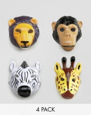 Temerity Jones Карнавальные маски с изображением животных. Цвет: мульти