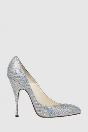 Текстильные туфли Nico Brian Atwood. Цвет: серебряный