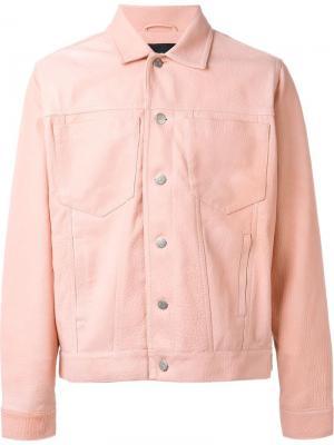 Куртка с пуговичной застежкой Misbhv. Цвет: розовый и фиолетовый
