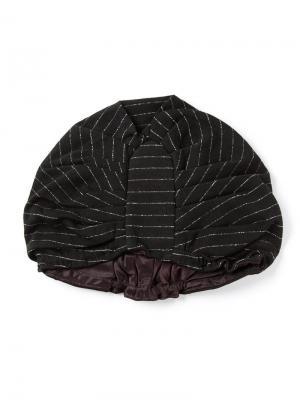 Полосатый тюрбан Biba Vintage. Цвет: чёрный