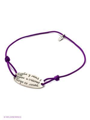 Браслет Amorem. Цвет: серебристый, фиолетовый