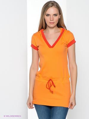 Туника MONDIGO. Цвет: оранжевый