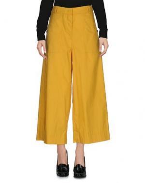 Повседневные брюки TELA. Цвет: охра