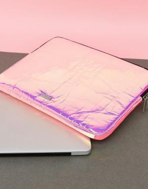 Skinnydip Чехол для ноутбука с розовым голографическим принтом. Цвет: мульти