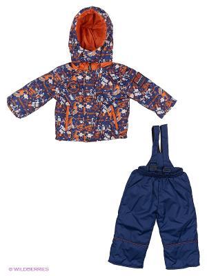 Комплект для мальчика демисезонный /куртка, полукомбинезон/ Rusland. Цвет: синий, оранжевый