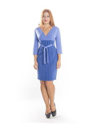 Платье Lautus. Цвет: синий, черный