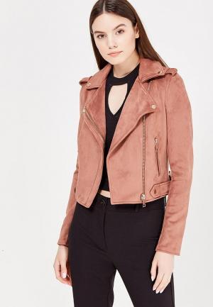 Куртка кожаная River Island. Цвет: коричневый
