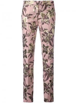Прямые брюки Christian Pellizzari. Цвет: розовый и фиолетовый