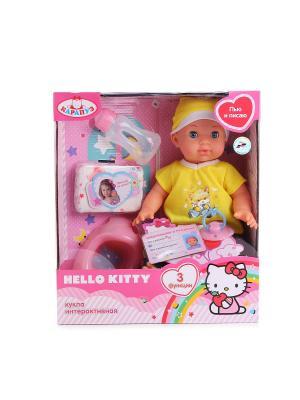 Пупс  Hello Kitty 35см с 3-мя функциями. Карапуз. Цвет: желтый, синий