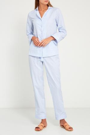 Голубая пижама с брюками Primrose. Цвет: голубой
