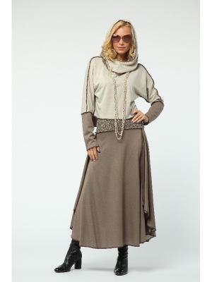 Костюм: юбка, джемпер KATA BINSKA. Цвет: бежевый, светло-бежевый