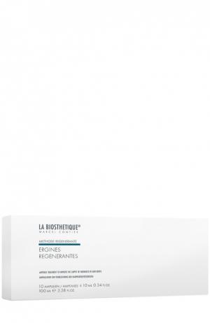 Поддерживающая сыворотка против выпадения волос, 10 ампул La Biosthetique. Цвет: бесцветный