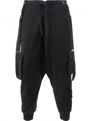 Укороченные брюки Shigoto x Greg Lauren. Цвет: чёрный