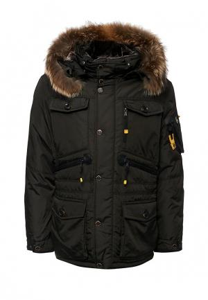 Куртка утепленная Vizani. Цвет: хаки