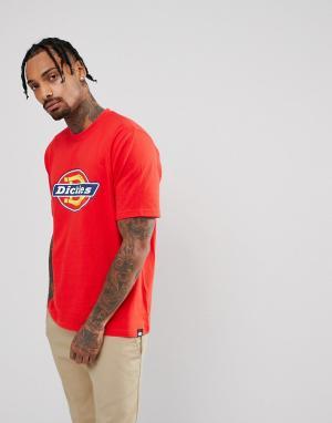 Dickies Красная футболка с логотипом. Цвет: красный