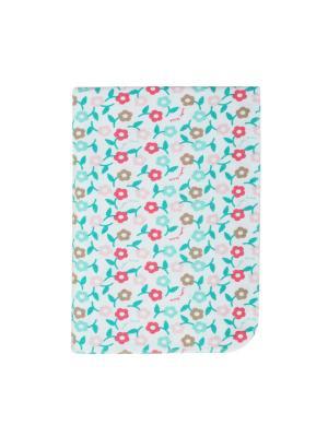 Пеленка детская в подарочной упаковке Lucky Child. Цвет: светло-зеленый, белый, розовый