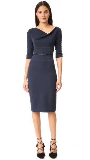 Платье Jackie O с рукавами три четверти Black Halo. Цвет: затмение