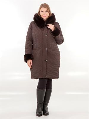Пальто HELLO MODA!. Цвет: коричневый