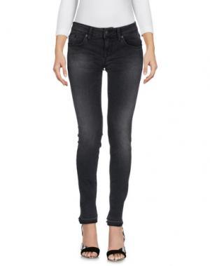 Джинсовые брюки (+) PEOPLE. Цвет: черный