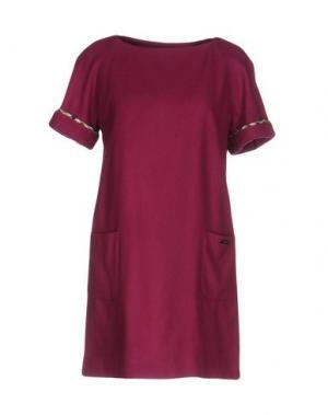 Короткое платье AQUASCUTUM. Цвет: пурпурный