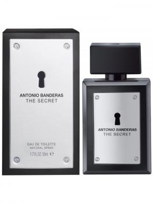 The Secret men edt 50 ml ANTONIO BANDERAS. Цвет: серебристый, черный