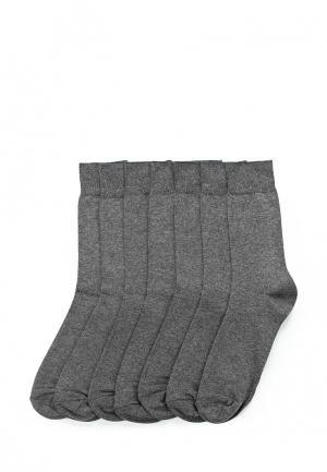 Комплект носков 7 пар Marks & Spencer. Цвет: серый