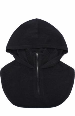 Кашемировая манишка на молнии с капюшоном Tegin. Цвет: черный
