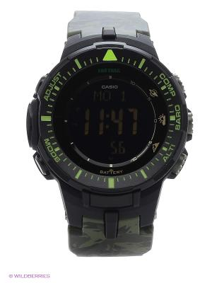 Часы Pro Trek PRG-300CM-3E CASIO. Цвет: хаки