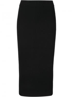 Трикотажная юбка-миди Totokaelo. Цвет: чёрный