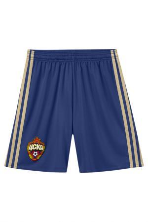 Спортивные шорты (трикотаж) adidas. Цвет: синий, желтый