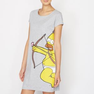 Рубашка ночная Simpsons. Цвет: серый
