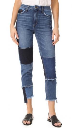 Джинсы Debbie с высокой посадкой Joe's Jeans. Цвет: стиль пэчворк
